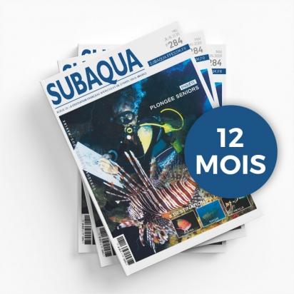 Abonnement 12 mois à la revue SUBAQUA non licencié