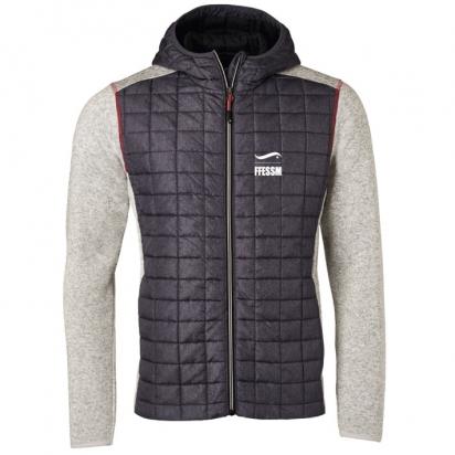 Veste tricot hybride à capuche - homme