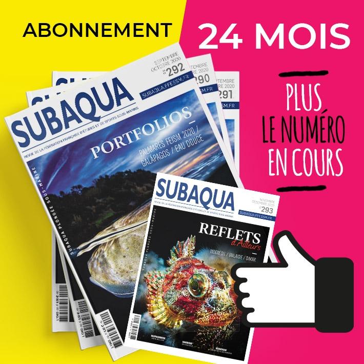 Abonnement Subaqua 24 mois + numéro en cours (non licenciés)